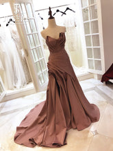 Load image into Gallery viewer, Navarra Draped Couture Satin Evening Gown.