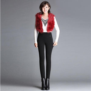 Slim Fleece Velvet High Waist Elastic Leggings