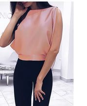 Load image into Gallery viewer, Beautifully Draped Bow back Blouse..