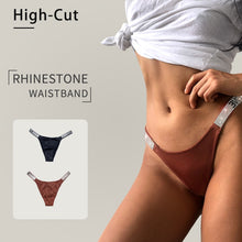 Load image into Gallery viewer, High Cut Rhinestone Embellished Panty