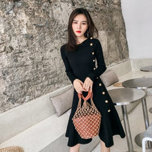 Load image into Gallery viewer, Sophisticated Long Sleeve Trumpet Knit Dress