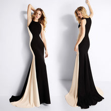 Load image into Gallery viewer, Best Slimming Color Blocked  Evening Gown.