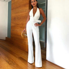 Load image into Gallery viewer, V Neck Jumpsuit Belted