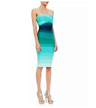 Load image into Gallery viewer, The Aqua or Yellow Ombre Sheath Dress