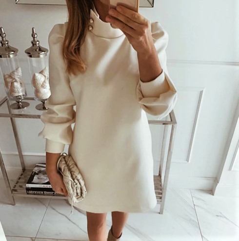 Sutton Place Mock Neck Dress