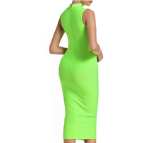 Load image into Gallery viewer, Lime Green Midi Mock Neck...