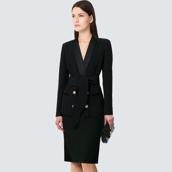 Tie Front  Pant Suit  jacket or pant and skirt