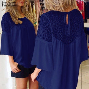 Summer Style Women  Lace Over sized Top