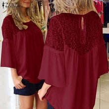 Load image into Gallery viewer, Summer Style Women  Lace Over sized Top