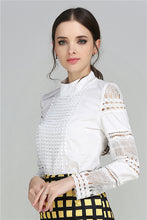 Load image into Gallery viewer, High Fashion Crochet Lace Blouse