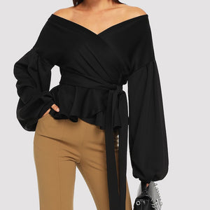Fluid sexy sweet heart neckline wrap Blouse!..
