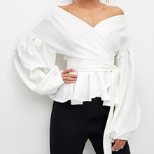 Load image into Gallery viewer, Fluid sexy sweet heart neckline wrap Blouse!..