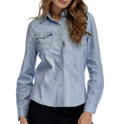 Women Denim Shirt Fashion Style Long Sleeve Best Shape Wears, Hair Removers, Leggings & Intimate