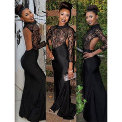 Casual Backless Lace Long Max Dress Sexy Hollow Out Black Party Dress Best Shape Wears, Hair Removers, Leggings & Intimate