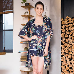 Sexy Floral Printing Pajamas Night Strap Best Shape Wears, Hair Removers, Leggings & Intimate