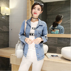 Large size women's denim jacket was thin top Best Shape Wears, Hair Removers, Leggings & Intimate