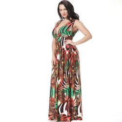 Sex Bohimian Max Long Dress New Europe and America Style Plus Size 7XL Best Shape Wears, Hair Removers, Leggings & Intimate
