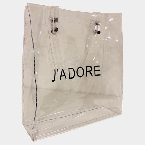 J'Adore Clary White Clear Bag