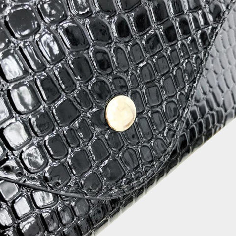 Black Croc Belt Bag