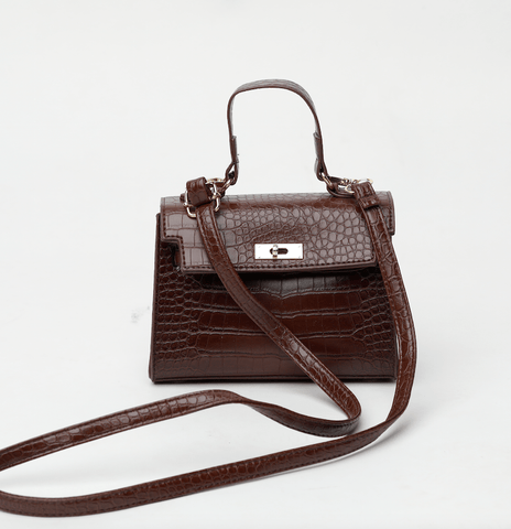 Nina Brown Crossbody Bag