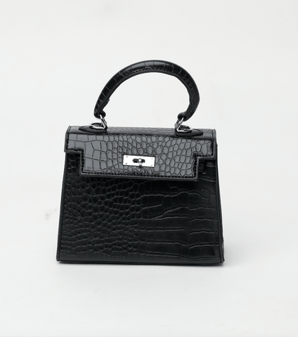 Rachel Black Flap Bag Crossbody