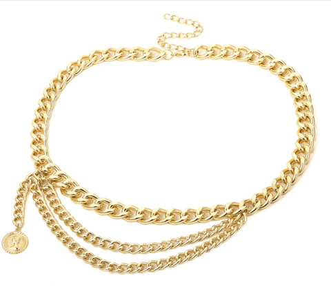 Mollie Gold Chain Belt