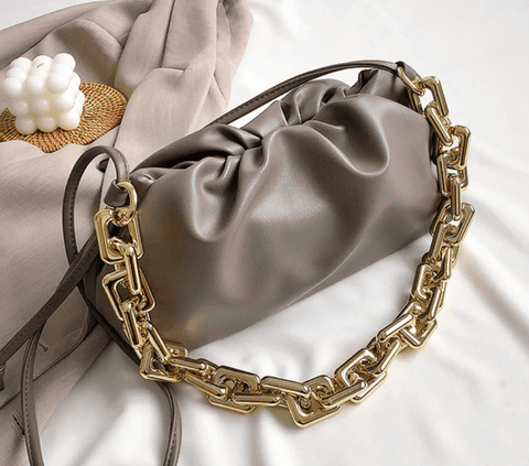 Paris Curled Gold Chain Bag