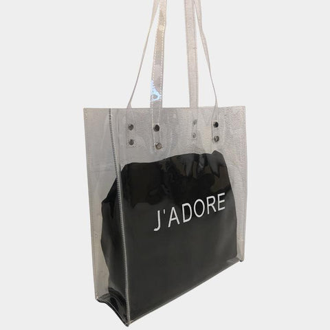J'adore Clary Black Clear Bag
