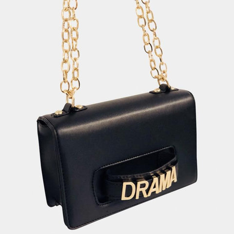 Drama Black Crossbody Bag