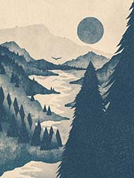 Forested Mountains Print