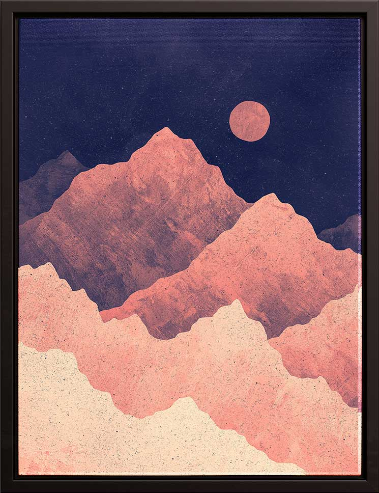 Art Bloom Canvas Art Red Night Mountainscape