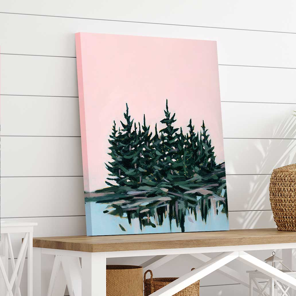 Blue Meets Pink - Canvas Print by Mallery Jane | Art Bloom Canvas Art