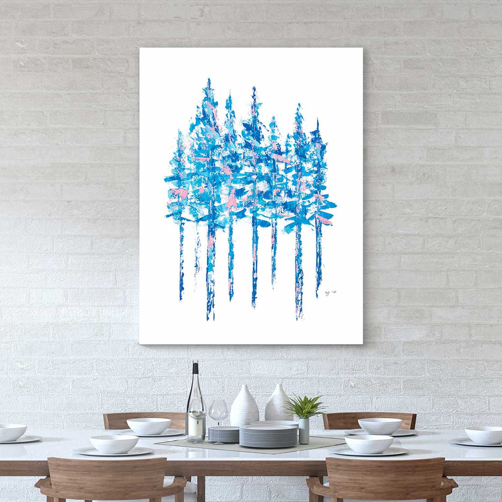 Blue Pines Canvas Art by Mallery Jane | Art Bloom