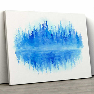 Woodlands Reflected Canvas Art by Caleb Sinchok | Art Bloom