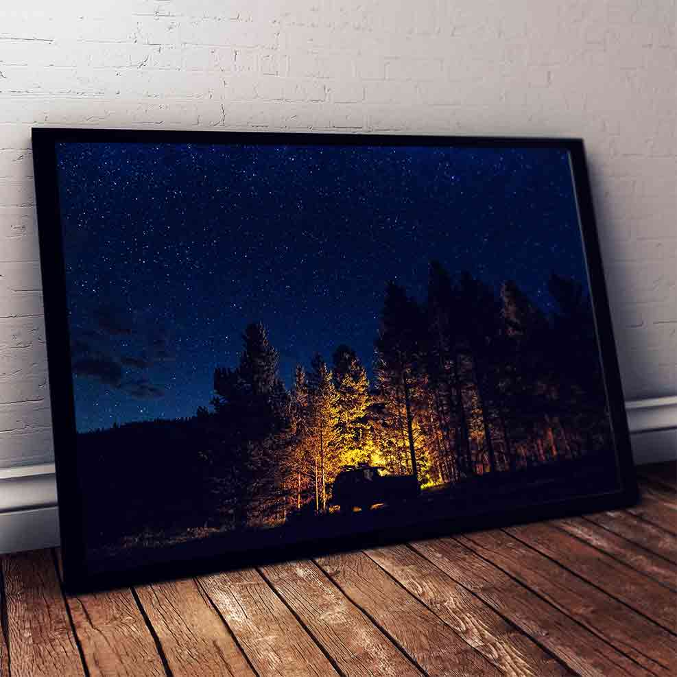 "Art Bloom Camping in Breckenridge Canvas Print- By Andrew Boeckman-S (16""x24"")-"