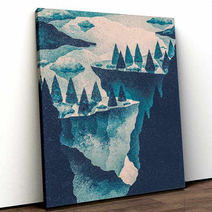 Cliffs Contrasted - Canvas Print by K Graphic House | Art Bloom Canvas Art