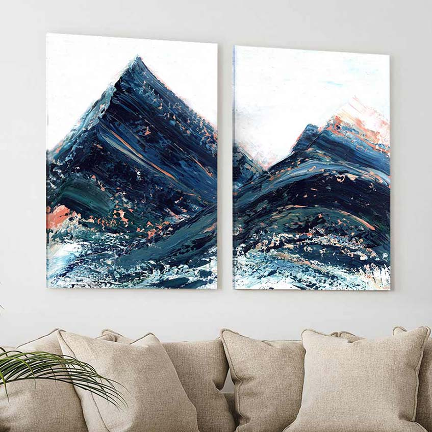 Copper Hills - 2-Piece Canvas Print by Melissa Critchlow | Art Bloom Canvas Art