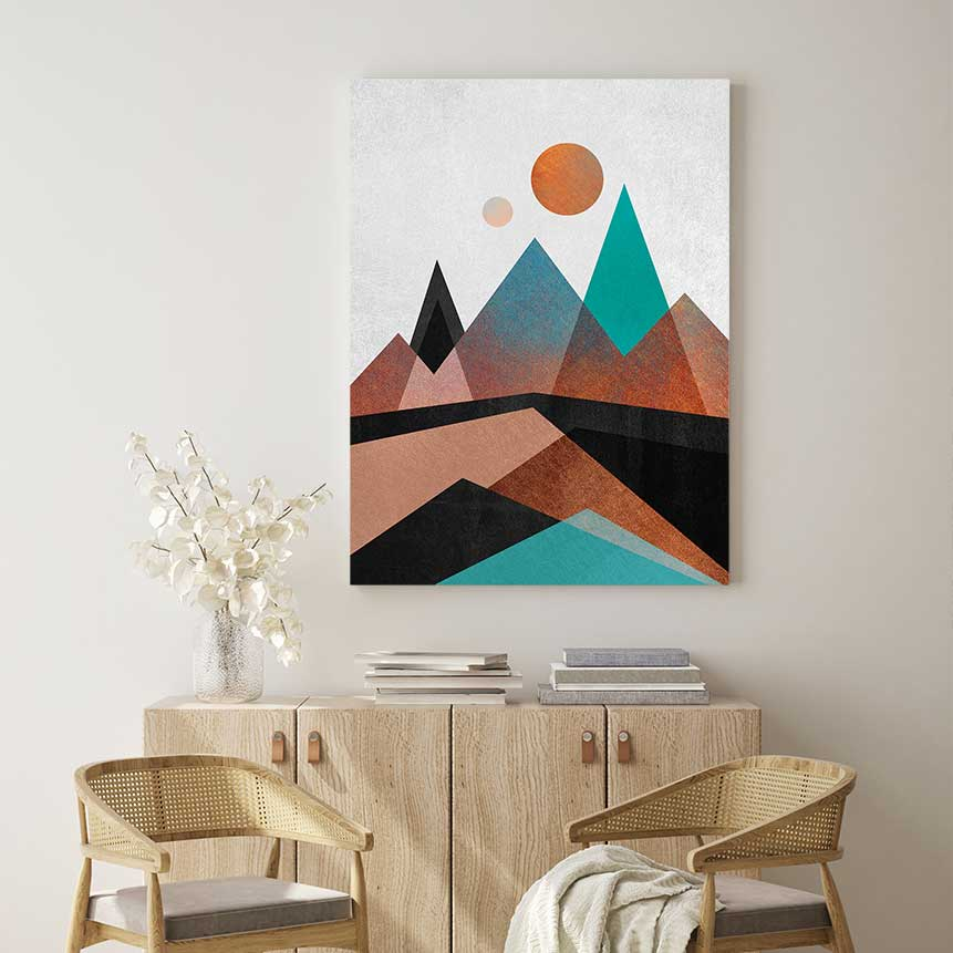 Copper Mountains - Canvas Print by Elisabeth Fredriksson | Art Bloom Canvas Art