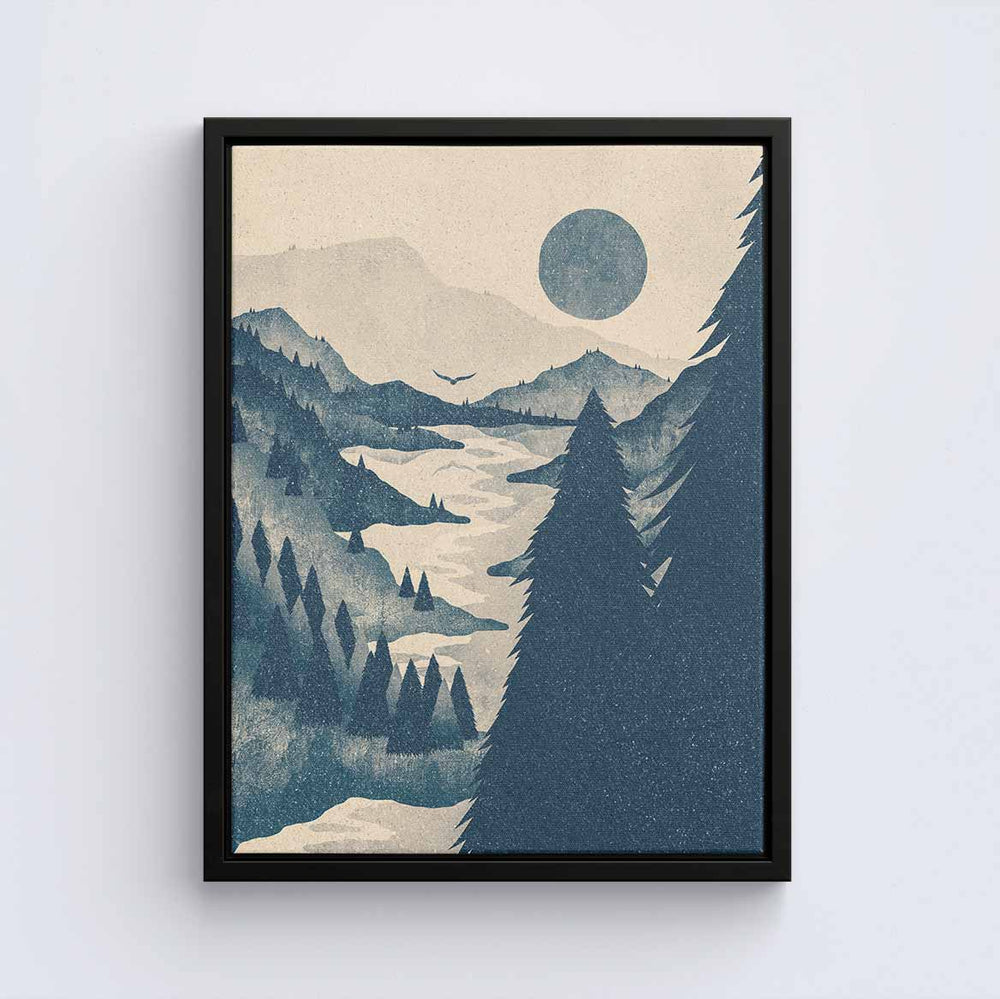 Forested Mountains - Canvas Print by K Graphic House | Art Bloom Canvas Art