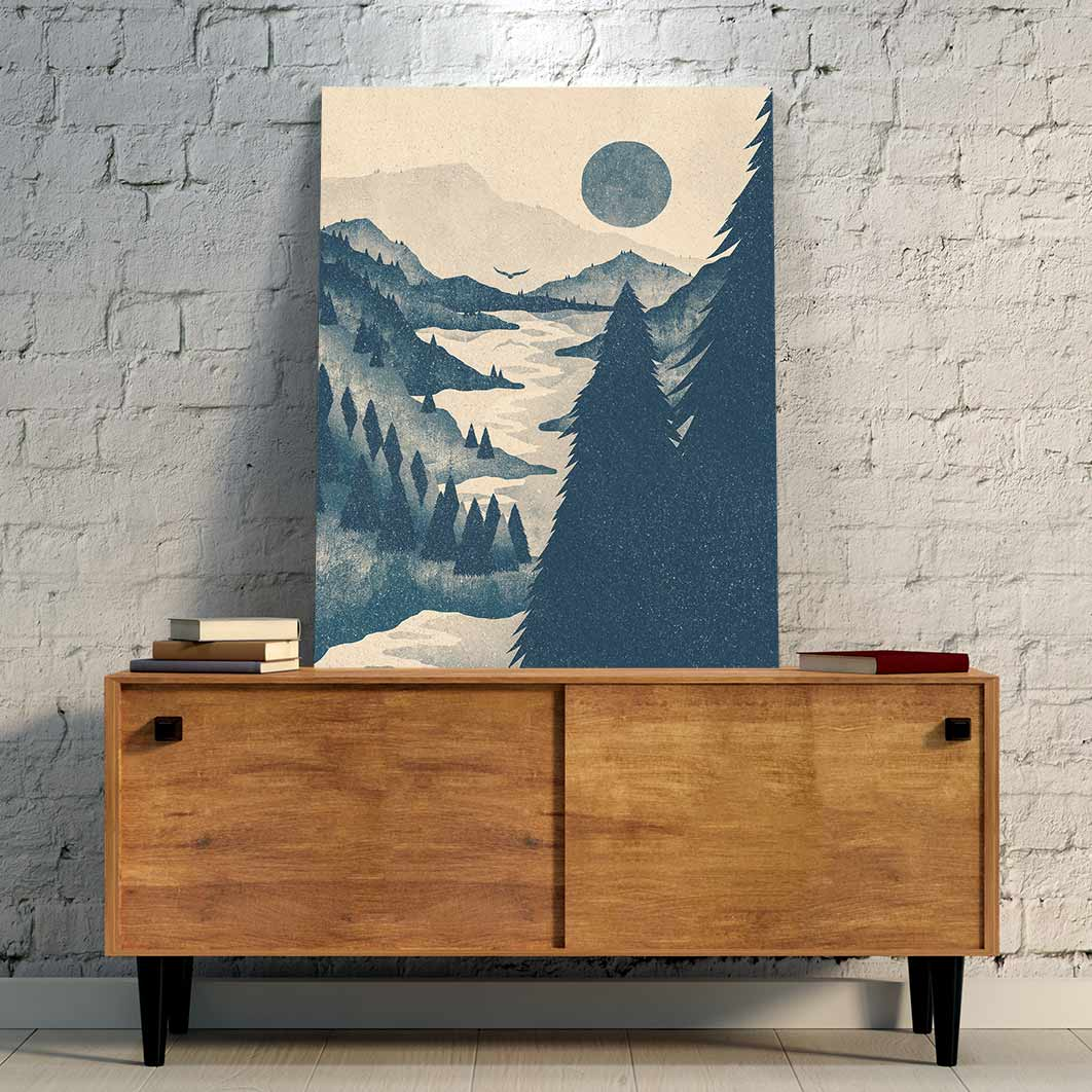 Forested Mountains Canvas Art by K Graphic House | Art Bloom