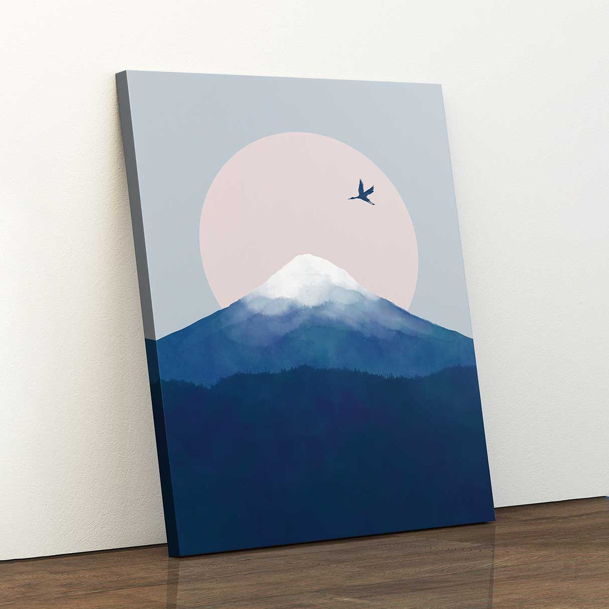 Fuji Crane - Canvas Print by Dan Hobday | Art Bloom Canvas Art