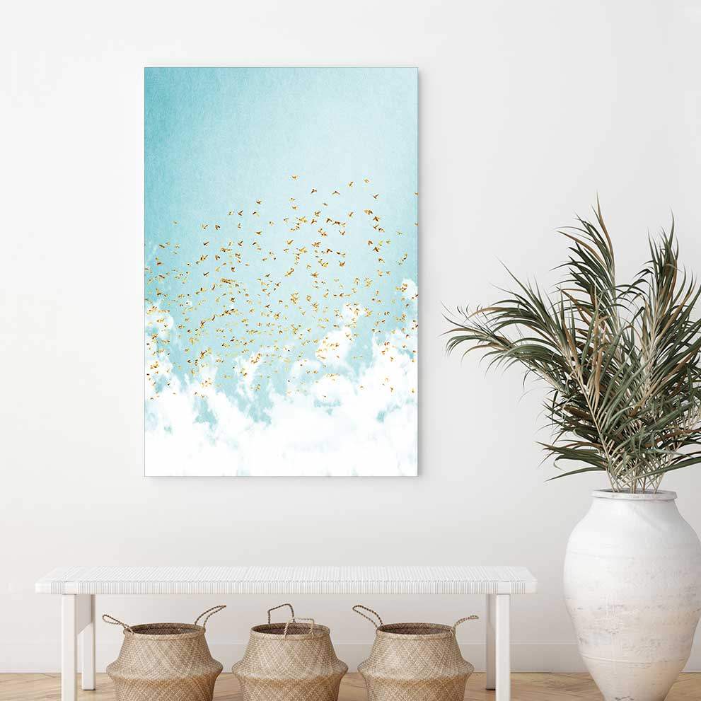 Golden Birds - Canvas Print by Kubistika | Art Bloom Canvas Art