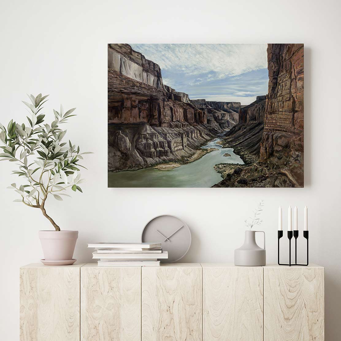 Into the Canyon Canvas Art by Kristen Fogarty | Art Bloom