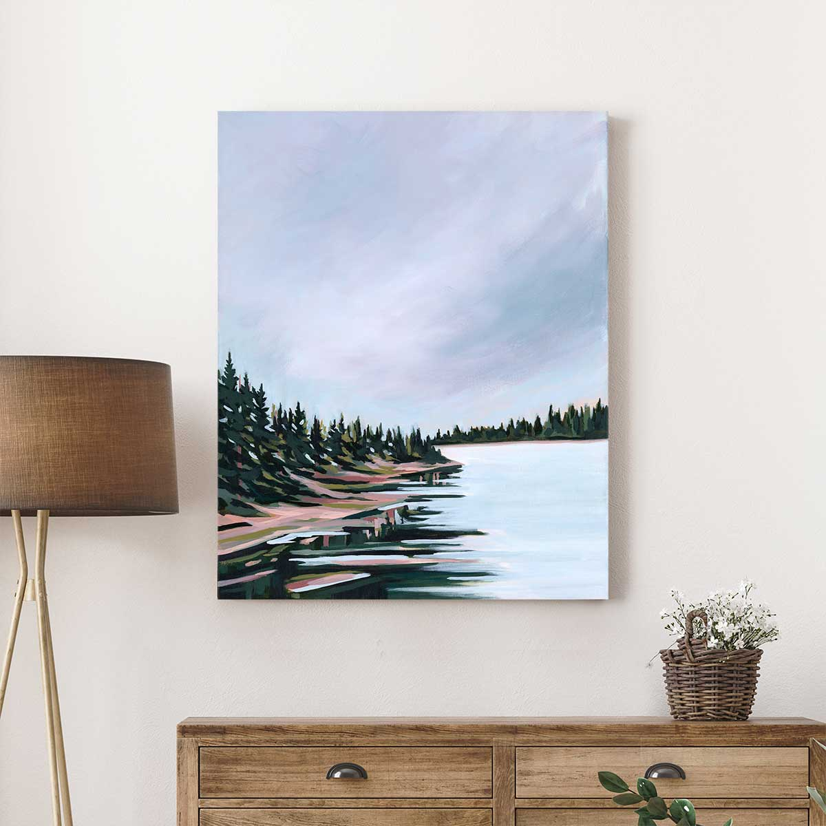 Jackson Lake - Canvas Print by Mallery Jane | Art Bloom Canvas Art