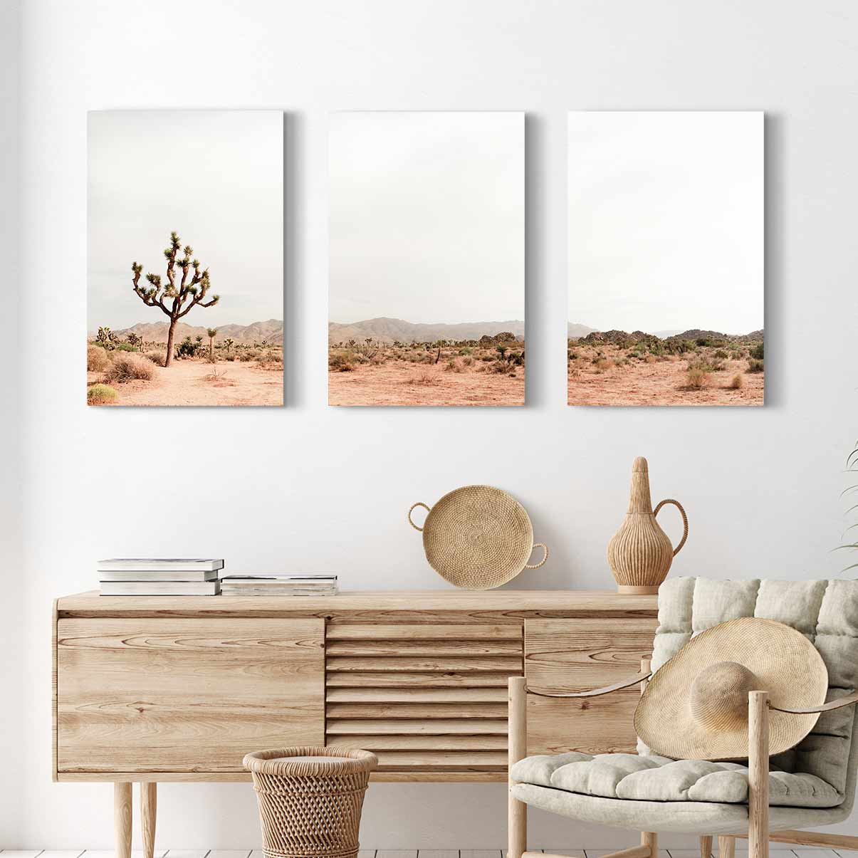 Joshua Tree - 3-Piece Canvas Print by Ysbrand Cosijn | Art Bloom Canvas Art