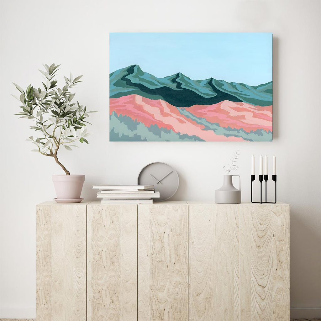 Mountain Shadows Canvas Art by Mallery Jane | Art Bloom
