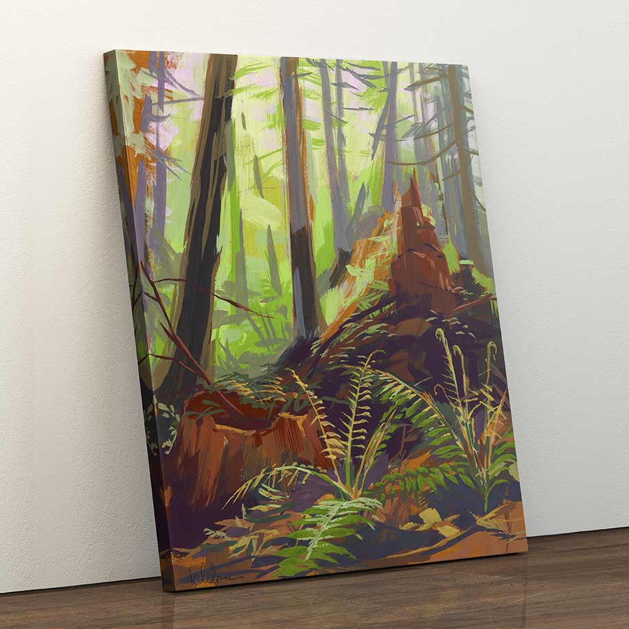 Old Growth Ghosts - Canvas Print by Khara Ledonne | Art Bloom Canvas Art