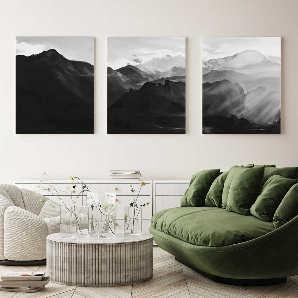 Pikes Peak - 3-Piece Canvas Print by Emma Kelly | Art Bloom Canvas Art