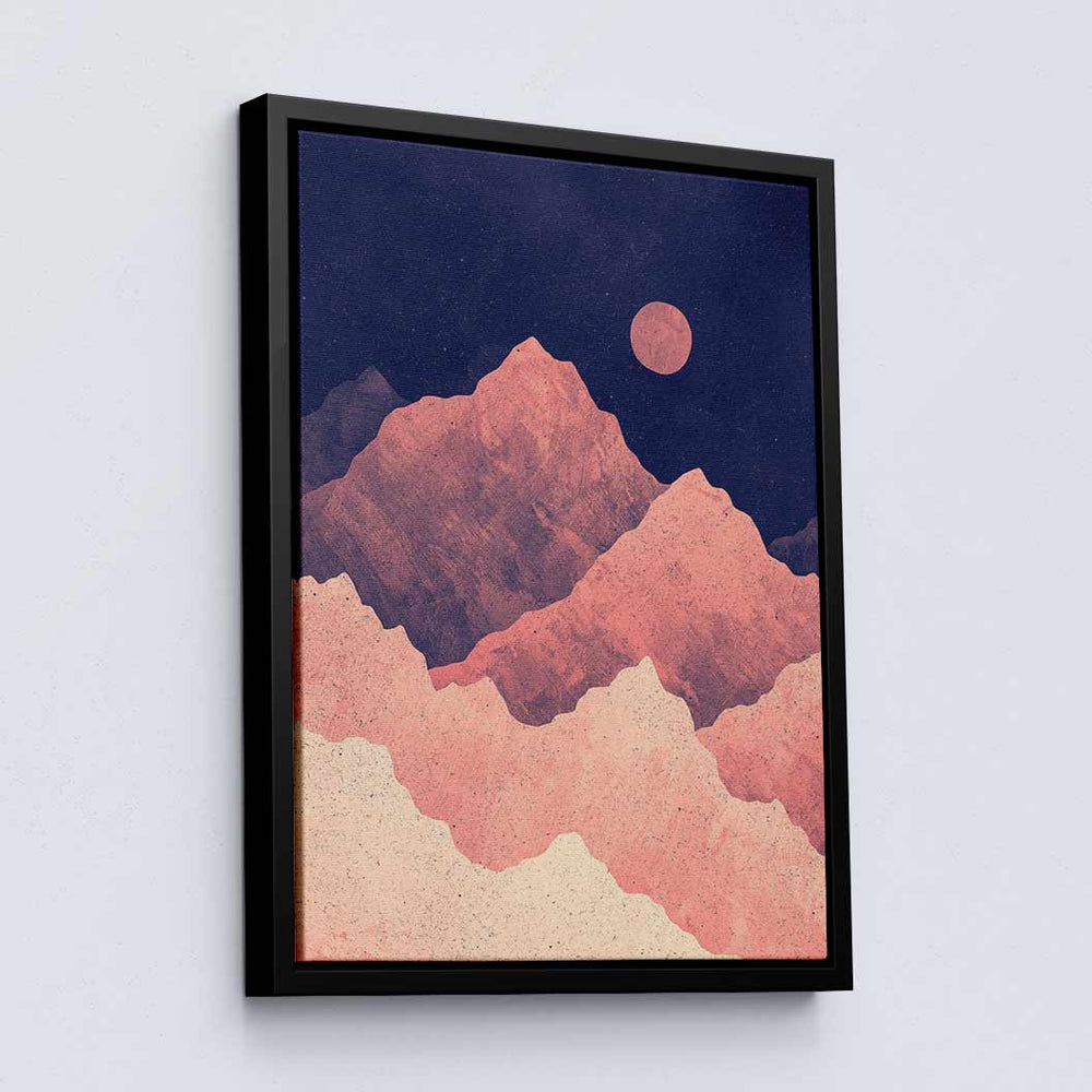 Red Night Mountainscape - Canvas Print by K Graphic House | Art Bloom Canvas Art
