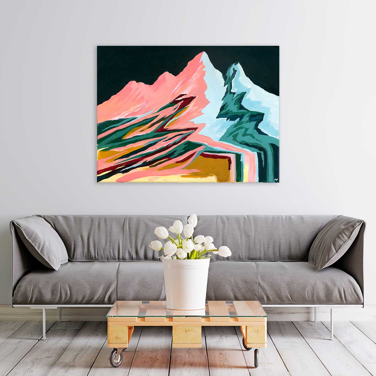 Retro Mountains Canvas Art by Mallery Jane | Art Bloom
